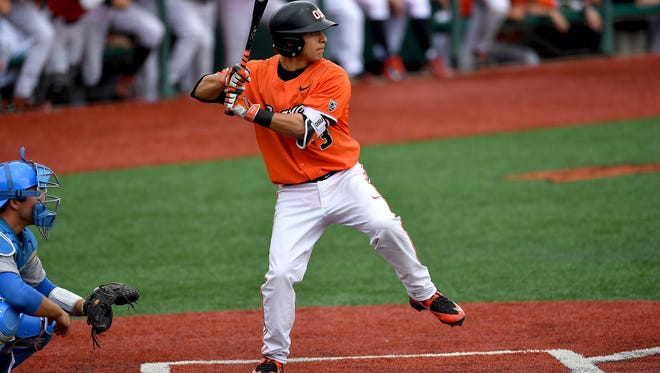 Oregon State second baseman Nick Madrigal has been named to several freshman all-America teams.