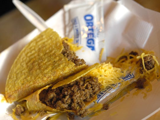 Beef, cheese, taco shell. What else do you need in