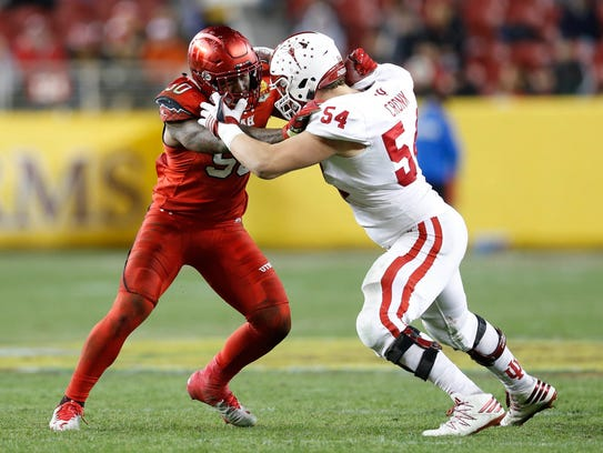 Coy Cronk will continue to man one of IU's tackle positions.
