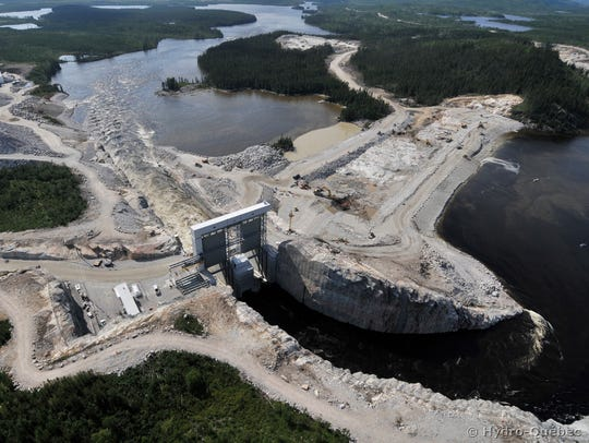 The Rupert Dam, a project of Hydro-Québec, is seen