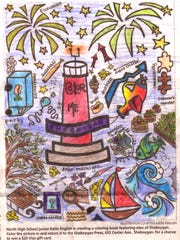 "Samantha Kolar, 11, was the child winner for the Sheboygan Press coloring contest using a page from ""Color Me Sheboygan."""