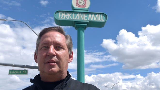 Chip Bowlby stands in front of the last remaining part of Park Lane Mall.