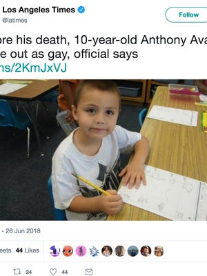 Anthony Avalos, had recently come out as gay, a county official said, and some suspect that homophobia played a role in his death.