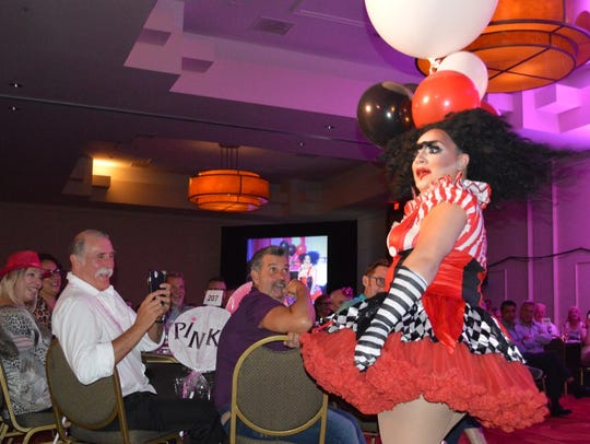 Contestant Anita Rose performs at the Desert AIDS Project's