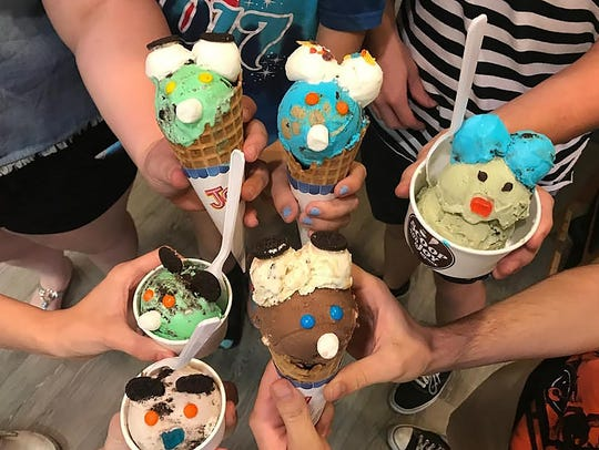 """Homemade ice cream with fun """"surprise"""" faces can be"""