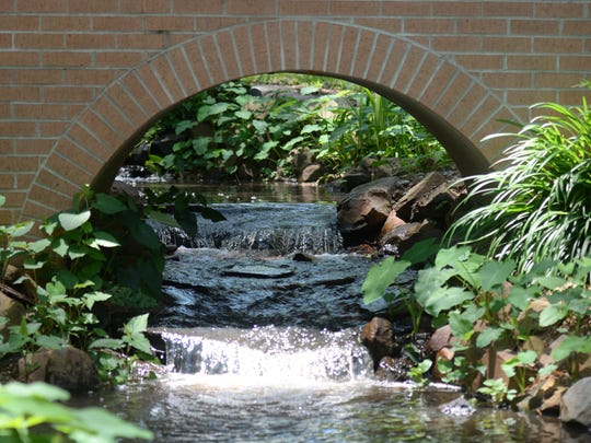 A waterfall at the Norton garden in Shreveport.