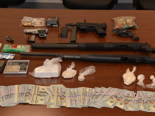 Evidence seized during Operation Money Mike.