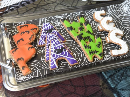 Honey Pumpkin seasonal gourmet dog treats here decorated for Halloween by Lucy's Barkery.