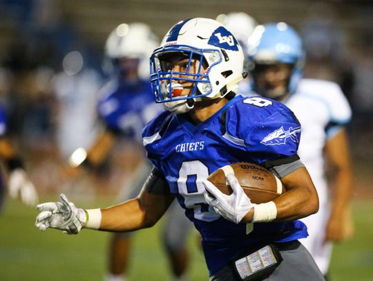 Lake View's Alex Ayala caught a touchdown pass and