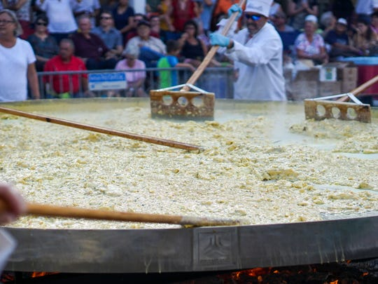 Abbeville hosts its 33rd annual Giant Omelette Celebration.