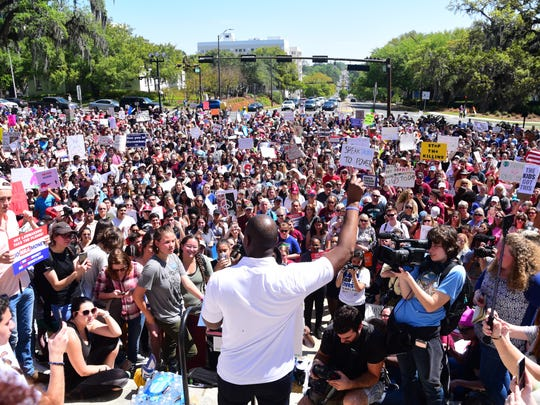 Tallahassee Mayor Andrew Gillum was one of the speakers at March for Our Lives in Tallahassee.