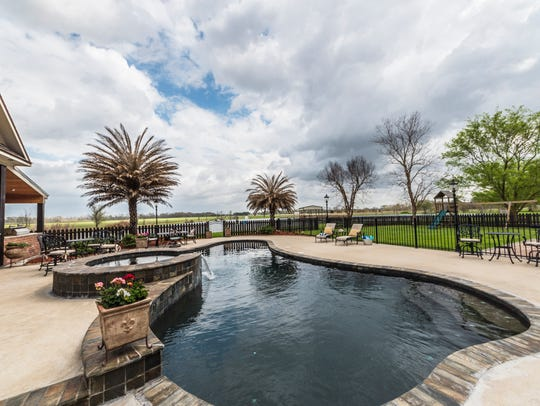 The pool is perfect for entertaining.
