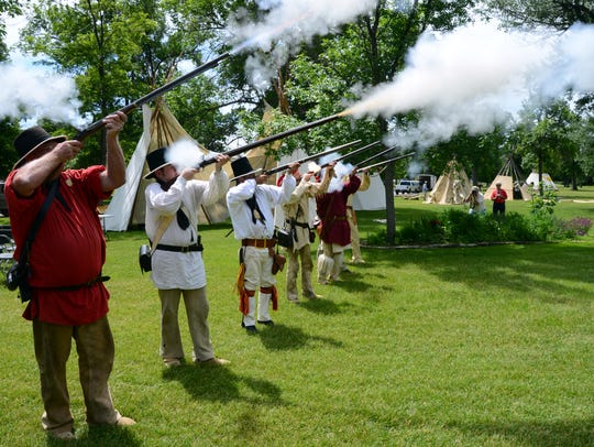 The Lewis and Clark Honor Guard kick off the annual