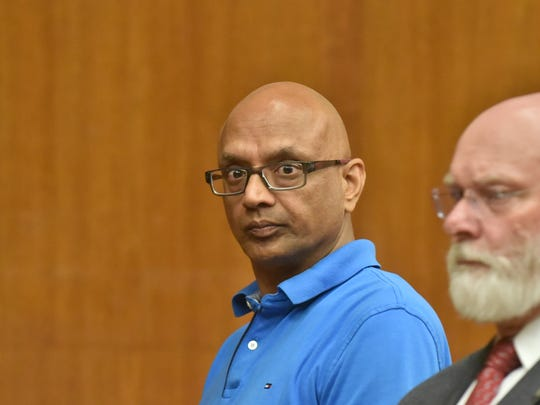 Sanjiv Kumar, the owner of the Schuyler Diner in Lyndhurst, appears in Hackensack court for running a credit card fraud scheme. His sentencing was adjourned for late August.