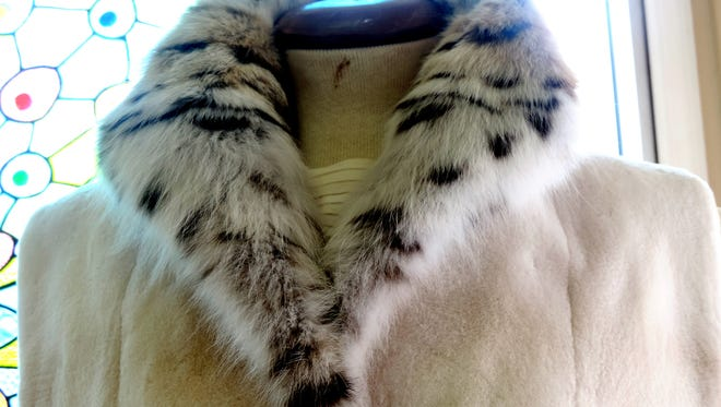 Sheared beaver vest with lynx collar ($675)