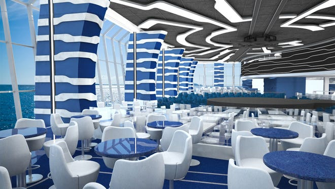 A rendering of the Cirque du Soleil theater to be build on the MSC Meraviglia.
