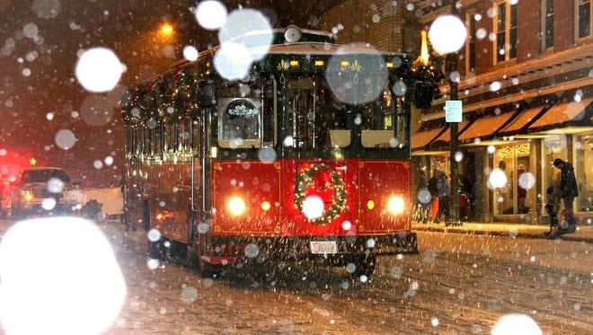 Holiday Trolley Car