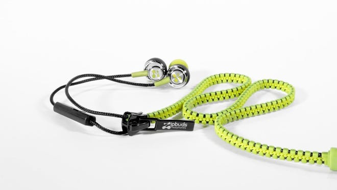 The ZipBuds Mic Pro feature tangle-resistant cables that work just like a zipper.