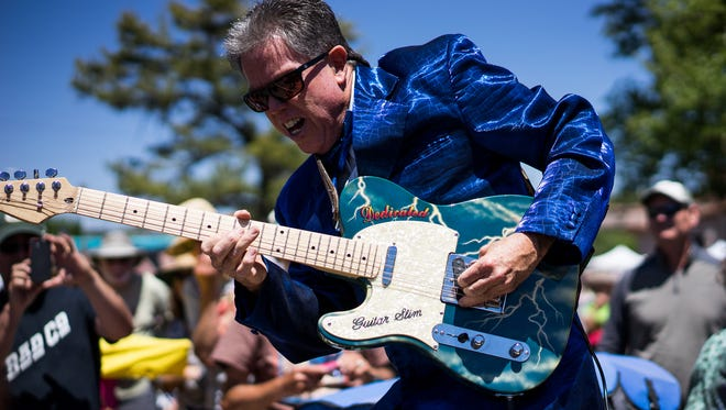 Guitar Slim will perform tonight at the Inaugural Silver City Blues Society Benefit Dance at the Old Elks Lodge