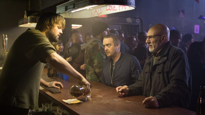 """Macon Blair, left, and Patrick Stewart, right, star in """"Green Room."""""""