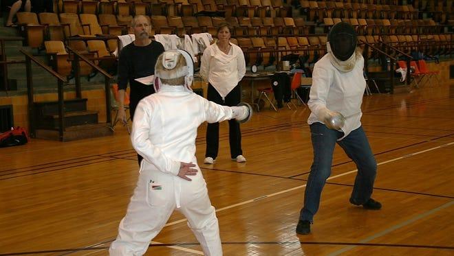 A 2012 Missouri State fencing tournament