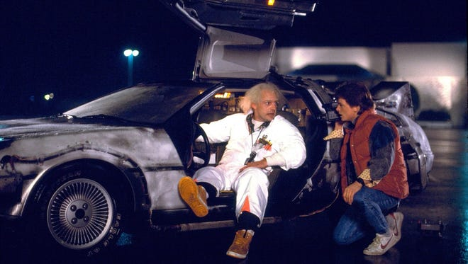 "Christopher Lloyd (left) and Michael J. Fox star in ""Back to the Future."""