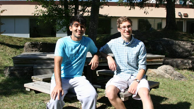 Vestal High School seniors Haashim Shah, left, and Graham Wilcox were named semifinalists in the 2017 National Merit Scholarship competition.