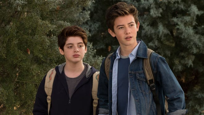 """Thomas Barbusca (left) as Leo and Griffin Gluck (right) as Rafe Khatchadorian in a scene from the movie """"Middle School: The Worst Years of My Life."""" The movie is playing at Regal West Manchester Stadium 13, Frank Theatres Queensgate Stadium 13 and R/C Hanover Movies."""
