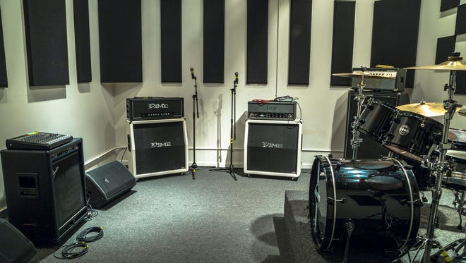 A rehearsal space in Fort Knox Studios in Chicago. A similar facility is on its way to Nashville in the spring of 2017.
