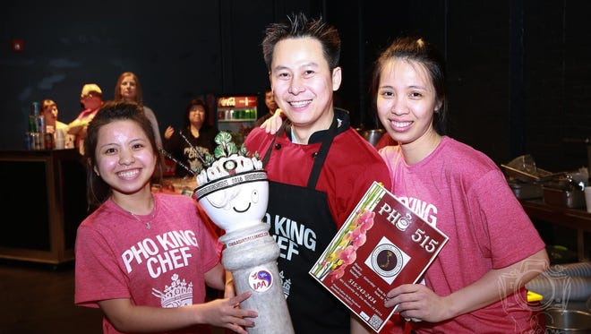 Winner Don Cotran and his assistants at the Pho King Cook-off 2016.