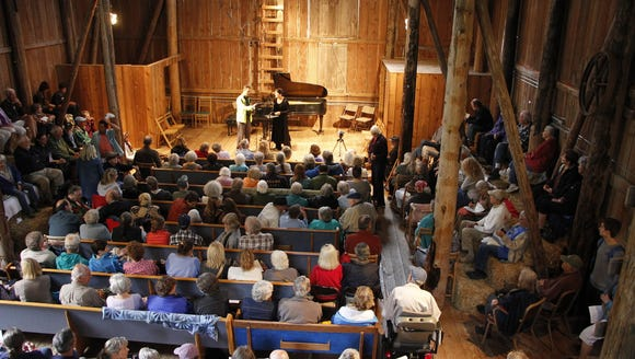 "Patrons can listen to ""Concerts in the Barn"" in the"
