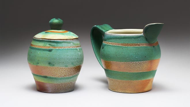 """Work by ceramic artist Susan Hatcher that is part of """"Locals: Living on Clay and Louisville Soil"""" at Craft(s) Gallery."""