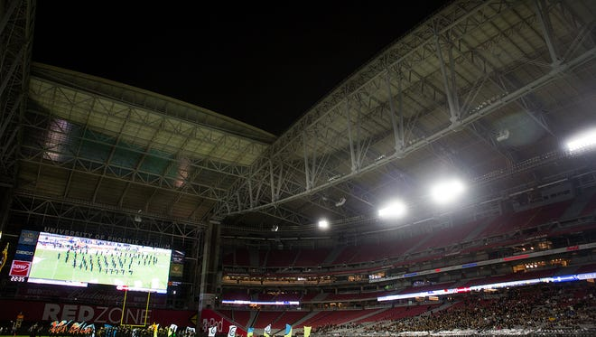A view of the 2014 Div. I state football championship game at University of Phoenix Stadium.