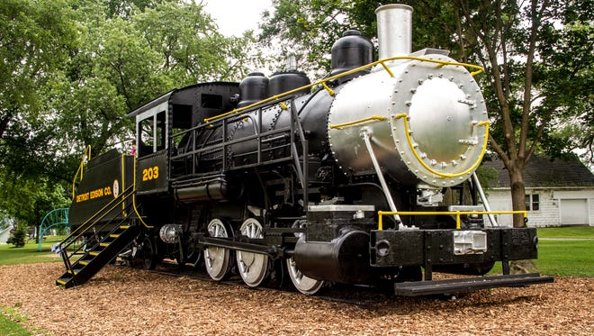 The Detroit Edison train in Marysville Park was recently repainted. 14-year-old John Decator led the charge to restore and repaint the local landmark earlier this year as part of an Eagle Scout Service Project.