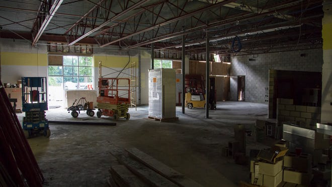 Construction of the future state-of-the-art STEAM Labs at Holland Woods. The space will be used to house new design and medical exploration classes.