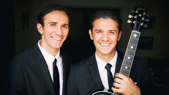 """Dylan (left) and Zachary Zmed, along with Burleigh Drummond, started """"The Everly Brothers Experience"""" in January 2016. The brothers are set to perform in Artesia on Sept. 5."""