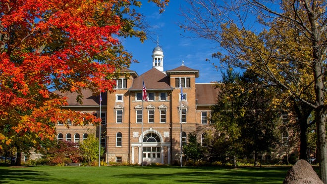 Old Main at the University of Wisconsin-Stevens Point.