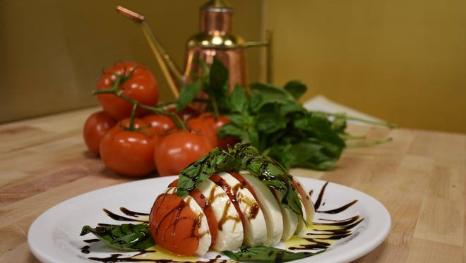Napoli recently opened in Cliffside Park. One of its appetizers includes the Mozzarella Caprese.