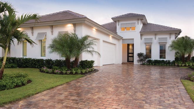 DIVCO's new Avila model at Miromar Lakes Beach & Golf Club offers 3,385 square feet under air and 4,996 total square feet.