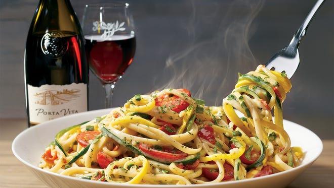 Spiralized Veggie Pasta at Olive Garden
