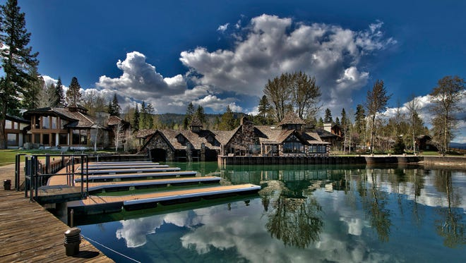 """Residence 13 is for sale for $3.749 million at Fleur du Lac Estates on the West Shore of Lake Tahoe. The original estate, including the yacht club shown here, appeared in several scenes in the film """"The Godfather Part II"""" in 1974."""