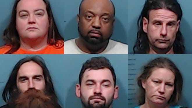 From left, top row: Tabitha Barton, Terry Gilmore, Buttch Janes; Bottom row, Christopher Janes, Garrett Ortiz and Sandra Paquin.