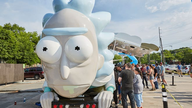 """The Rickmobile travels between """"Rick and Morty"""" events, and will make a stop at Lyric Cinema in Fort Collins on Friday, July 13, 2018."""