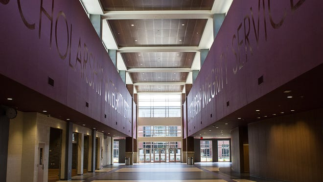 Main hall in the new Collierville High School