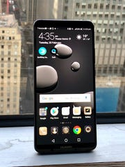 The Huawei Mate 10 Pro. The Chinese company is selling its flagship phone without a U.S. carrier deal, reportedly because of U.S. government pressure on telecoms to drop their plans.
