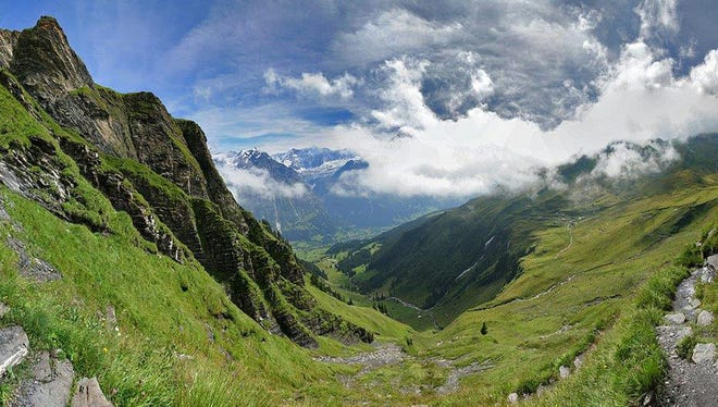 Grindelwald, Switzerland: More than 300 miles of hiking trails traverse this small haven in Switzerland.
