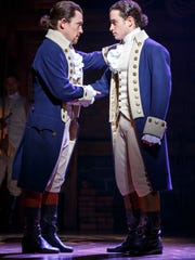 """""""Hamilton"""" will be at the Civic Center in Des Moines from June 27-July 15, 2018."""
