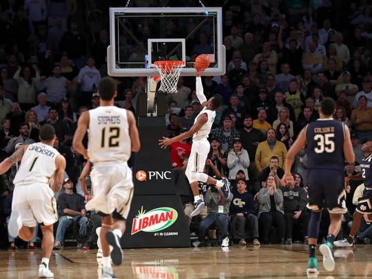Josh Okogie's layup beat the buzzer and No. 14 Notre Dame in Josh Pastner-led Georgia Tech's win on Saturday.