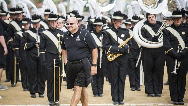 Winchester competes during Band Day at the Indiana State Fair.