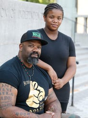 Mahkieb Booker and his daughter, Imani, 15. She is